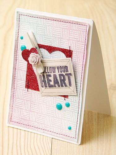 Листівка Follow Your Heart разом із Hero Arts