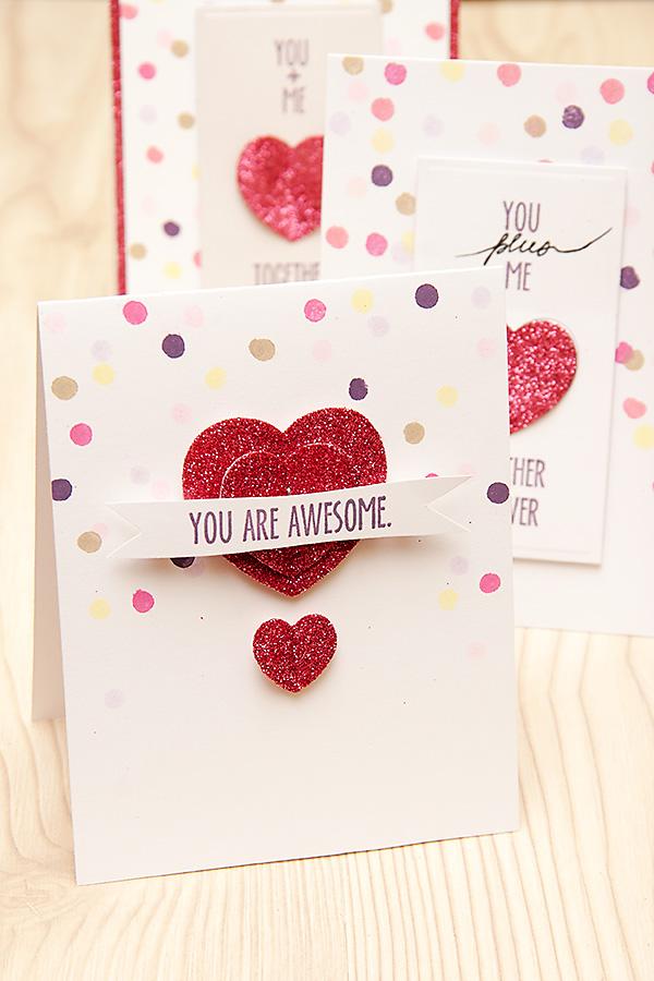 Валентинка із підручних матеріалів You + Me