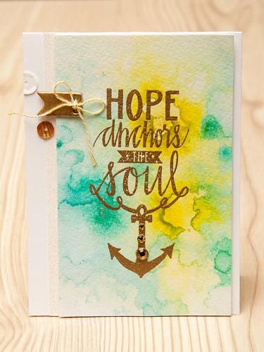 Листівка Hope Anchors the Soul для Neat & Tangled. День 1