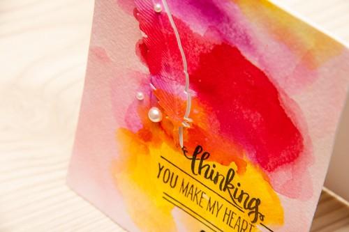 Clean & Simple Die Cutting #19: Акварельна листівка. Відео