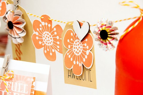 Orange Birthday Party Decor