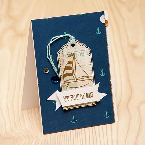 Листівка щомісяця: Морська листівка You Float My Boat