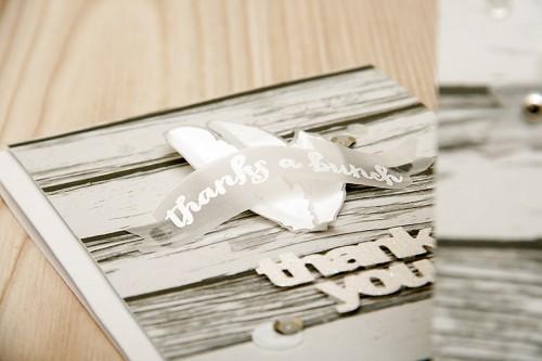 Clean & Simple Die Cutting #20: Виготовлення штампів за допомогою ножів. Листівка Thanks a Bunch. Відео