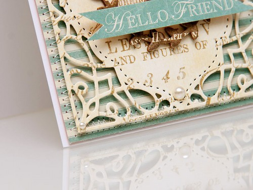 Листівка Hello Friend. Spellbinders Card Creator - A2 Tranquil Moments S5-216 та In'spire - Silhouette IN-010