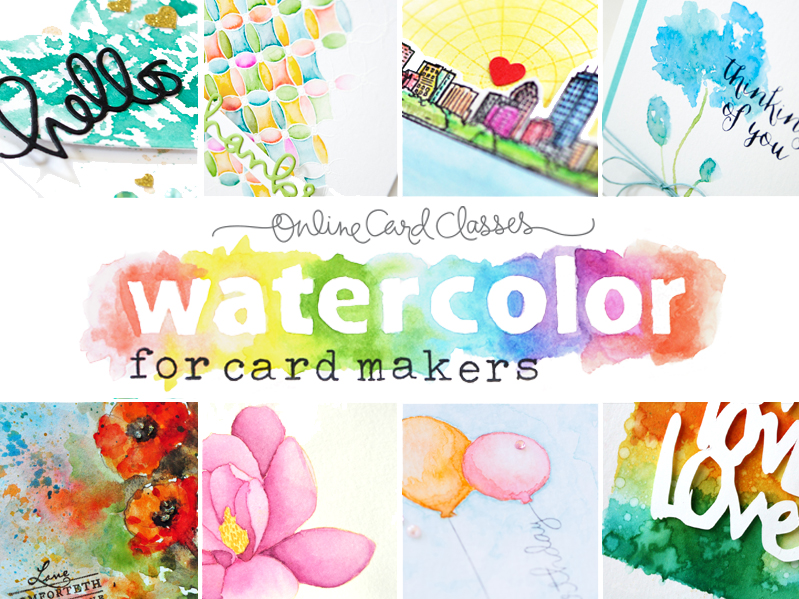 Watercolor for cardmakers class and a giveaway!