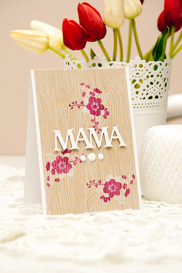Avery Elle's Mother's Day Challenge - Mama Card by Yana Smakula using Love Notes Stamp Set