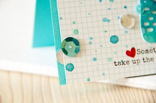 Clean & Simple Die Cutting #22: Листівка із акварельним елементом