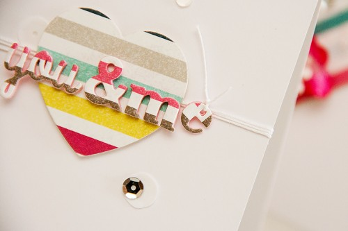 Clean & Simple Die Cutting #23: Dimensional die cut elements using craft foam.