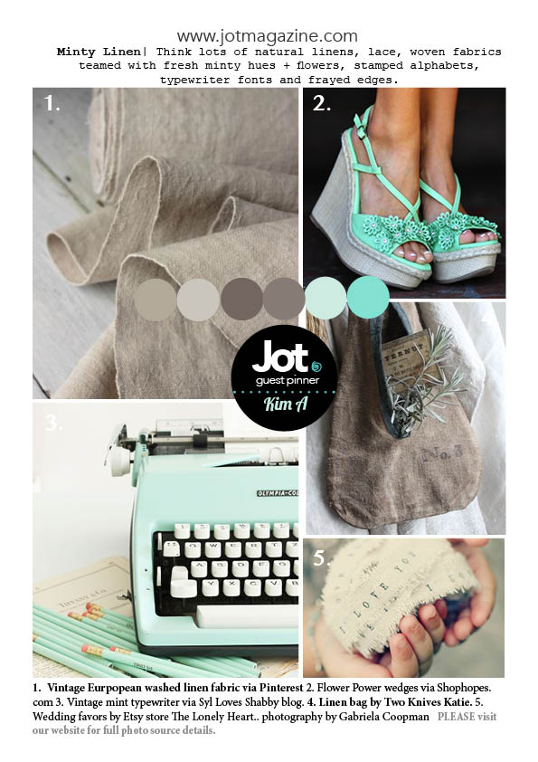 June Mood Board by Jot Magazine