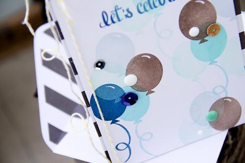 Листівка із повітряними кульками на День Народження Lets Celebrate для Neat & Tangled