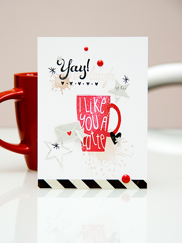 I Like You A Latte Card using stamps from Hero Arts