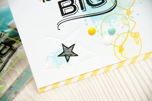No Dream Is Ever Too Big - Yana Smakula | Using stamps from #HeroArts, inks from #ClearSnap and dies from #Spellbinders