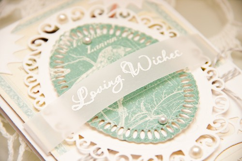 Loving Wishes Card by Yana Smakula using dies from Spellbinders and papers from Graphic 45