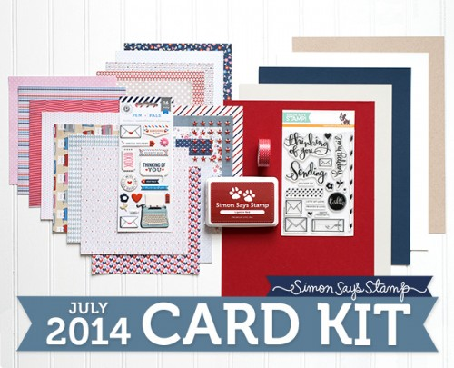 Simon Says Stamp July 2014 Card Kit. Video