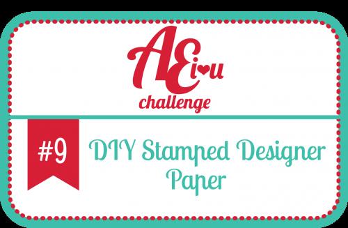 Avery Elle Challenge - DIY Stamped Pattern Paper