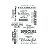 Hero Arts Many Birthday Messages Stamp Set CL611