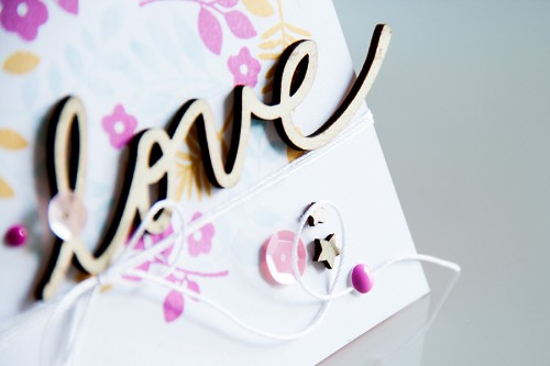 Shaped Stamping - Paper Smooches Love Card