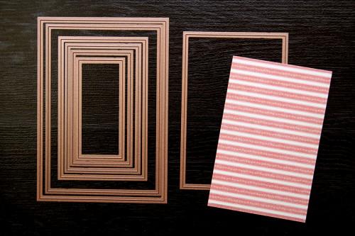 Yana Smakula #Spellbinders Card using the following dies: 5 x 7 Matting Basics B S6-002, Majestic Labels Twenty-Five S5-189, Radiant Rectangles S5-161, Lace Hearts S5-204