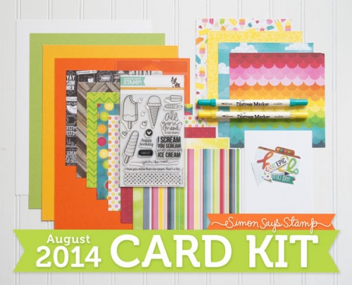 Simon Says Stamp August 2014 Card Kit. Video