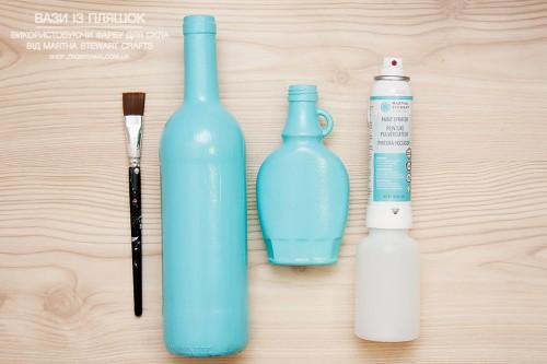 Yana Smakula | Martha Stewart Crafts Glass Painted Bottles | Яна Смакула - вази із шляшок за допомогою фарби від Martha Stewart Crafts
