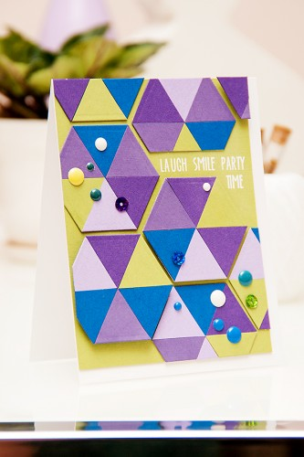 Yana Smakula | Clean & Simple Die Cutting using Hexagon dies from Spellbinders and stamps from Neat & Tangled