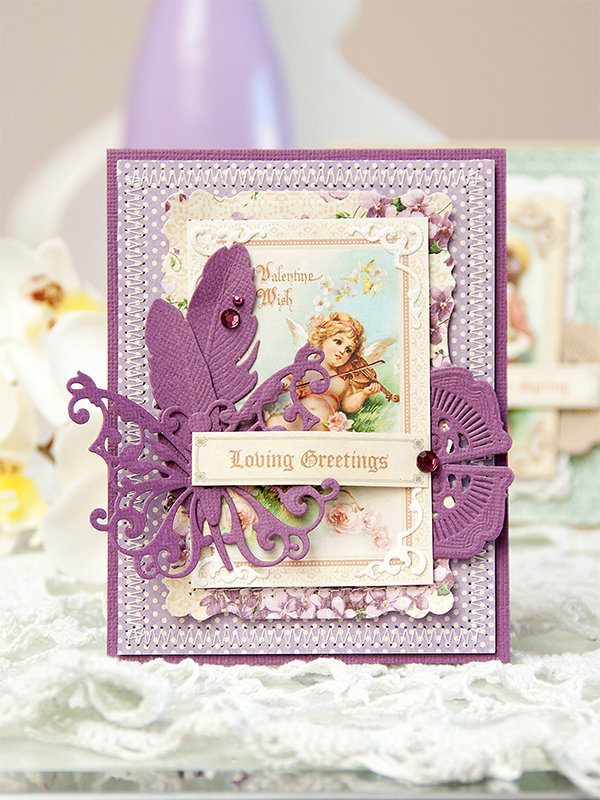 Yana Smakula | Spellbinders & Graphic 45 Loving Greetings Card