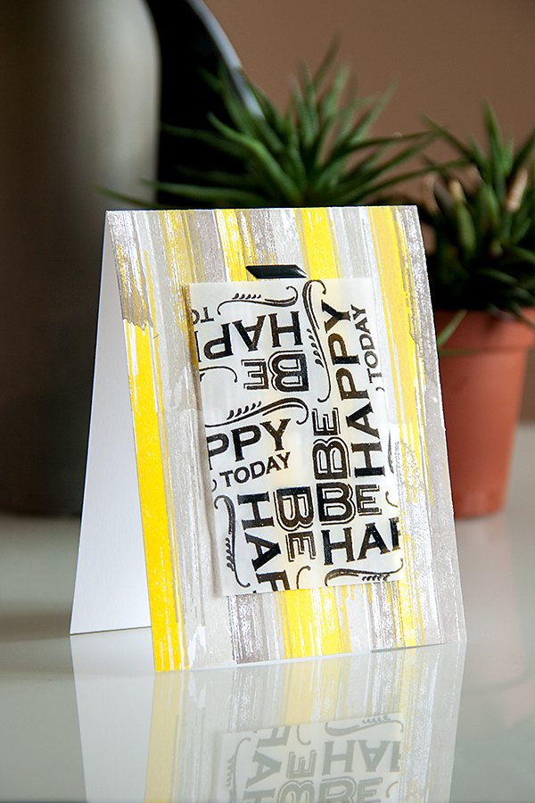 Yana Smakula | Pinterest Inspired #41 Grey & Yellow Brushstroke Backrground Card with a modern twist