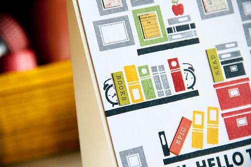 Yana Smakula | Simon Says Stamp September 2014 Card Kit. Card #2 - Custom Book Ends. Video