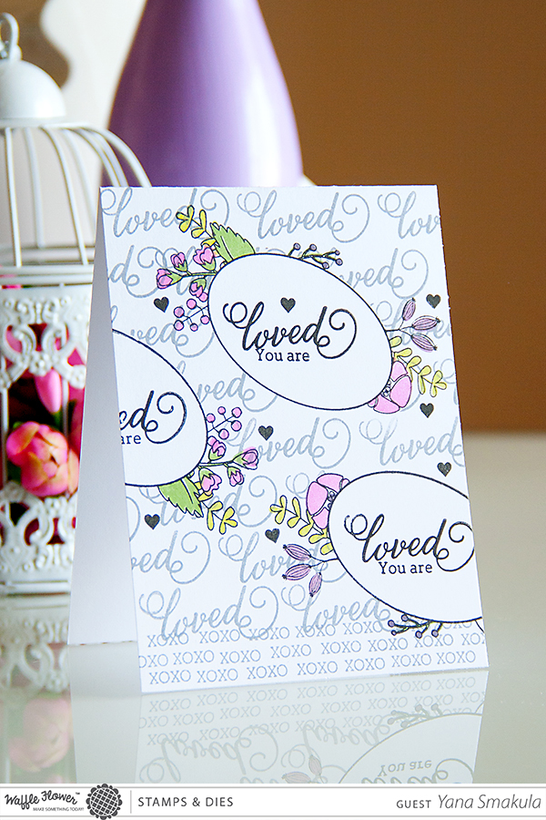 Yana Smakula | Waffle Flower Crafts stamps #waffleflowercrafts - One Layer Loved Card and video!