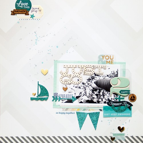 Yana Smakula | Gossamer Blue September Layouts