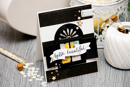 Yana Smakula | Card A Month - Hello Beautiful Using Spellbinders Dies. For more cardmaking ideas and videos, please visit http://www.zrobysama.com.ua/?lang=en