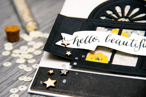 Yana Smakula | Card A Month - Hello Beautiful Using Spellbinders Dies. For more cardmaking ideas and videos, please visit https://www.yanasmakula.com/?lang=en