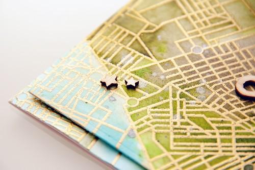 Yana Smakula | Hero Arts City Map Background Miss You Card and video. For more cardmaking ideas please visit https://www.yanasmakula.com/?lang=en