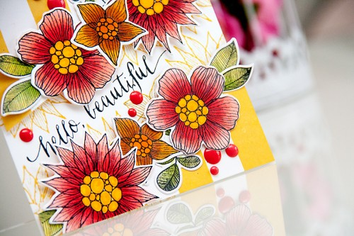 Yana Smakula | Simon Says Stamp Hello Beautiful Floral Card and video. More at https://www.yanasmakula.com/?lang=en