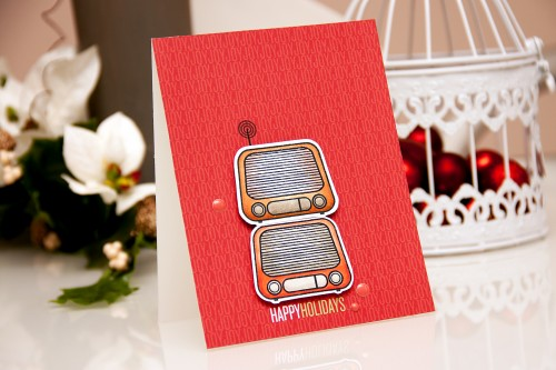 Yana Smakula | Create a Smile - Perfect Tune - Happy Holidays Card. #cardmaking #stamping #copiccoloring