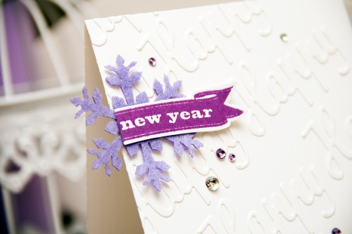 Yana Smakula | Happy New Year Faux Embossed Background Holiday Card Hero Arts. For more cardmaking ideas and videos please visit https://www.yanasmakula.com/?lang=en
