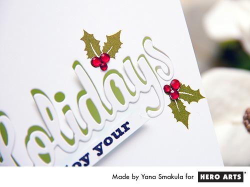 Yana Smakula | Hero Arts Enjoy Your Holidays Card