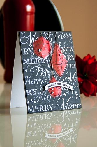 Yana Smakula   Hero Arts Merry Christmas Black & Red Card. For more cardmaking ideas please visit http://www.zrobysama.com.ua/?lang=en