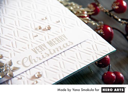 Yana Smakula | Hero Arts Very Merry Christmas Card