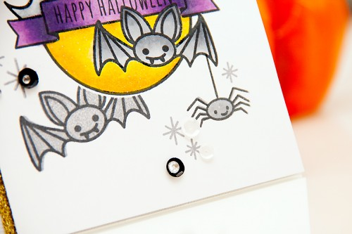 Yana Smakula | Neat & Tangled Happy Halloween Card Creepy Cute. For more cardmaking ideas and videos, please visit https://www.yanasmakula.com/?lang=en