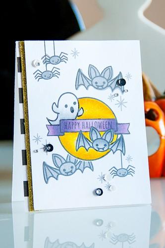 Yana Smakula | Neat & Tangled Happy Halloween Card Creepy Cute. For more cardmaking ideas and videos, please visit http://www.zrobysama.com.ua/?lang=en
