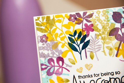 Yana Smakula | Paper Smooches - Thanks for Being So Awesome Card. For more cardmaking ideas and videos, please visit http://www.zrobysama.com.ua/?lang=en #cardmaking #stamping #papersmooches, #clearsnap
