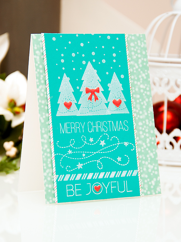 Yana Smakula | Simon Says Stamp November 2014 Card Kit - Be Joyful