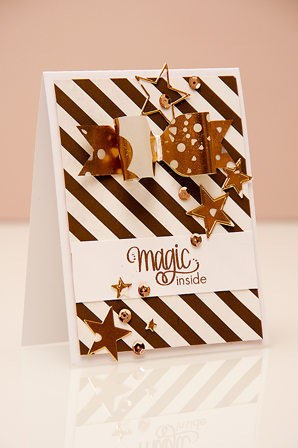 Yana Smakula | Paper Crafts & Scrapbooking Magazine Magic Inside Bow Card