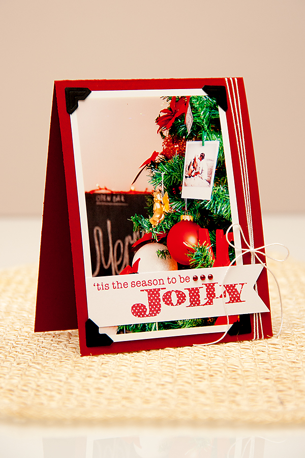 Yana Smakula | Paper Crafts & Scrapbooking Magazine Jolly Photo Card