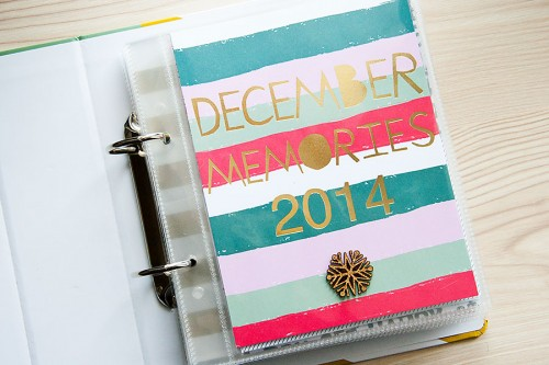 Yana Smakula | December Memories 2014 Album. Gossamer Blue inspiration Blog Hop #gossamerblue #december #album #scrapbooking #decemberdaily