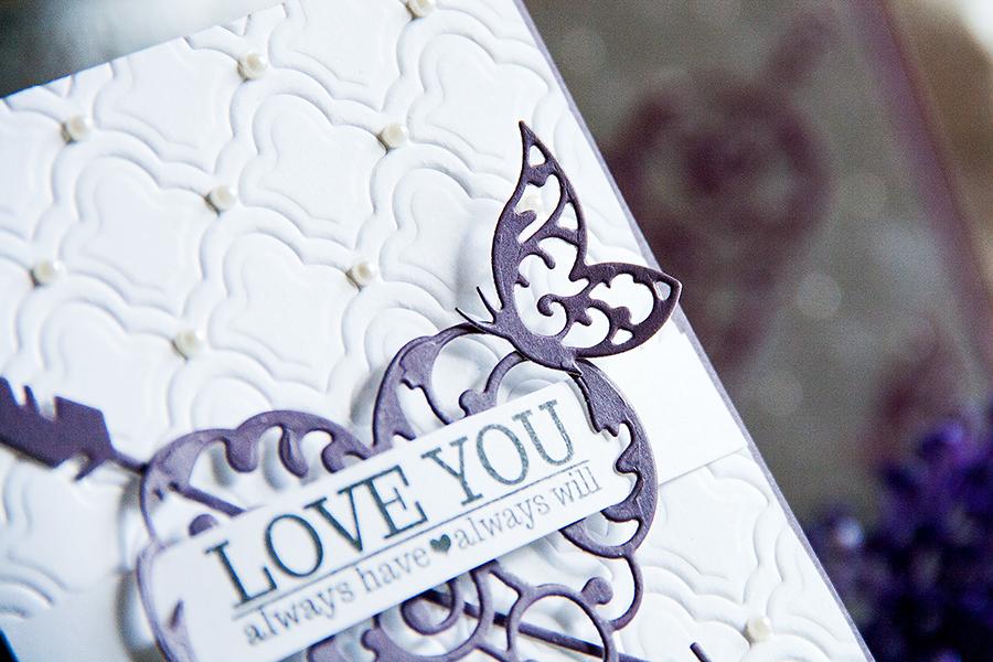 Yana Smakula | Elegant Valentine's Day Cards. For more cardmaking ideas and videos please visit https://www.yanasmakula.com/?lang=en #spellbinders #valentine #love #handmade