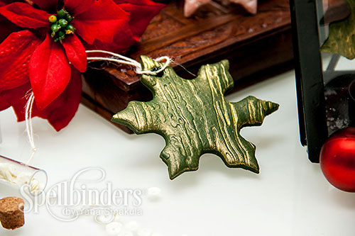 Yana Smakula | Embossed Clay Holiday Ornaments using Spellbinders embossing folder and polymer clay #diy #ornaments #embossing #clay