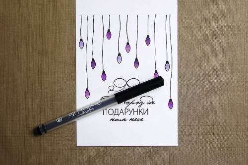 Майстерня Різдвяних Листівок 2014. День 8 Листівки із оригінальною кольоровою гамою