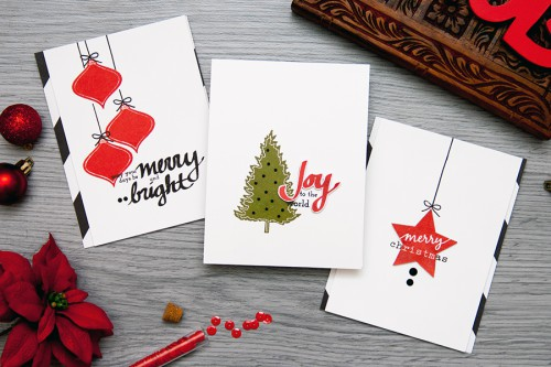 Yana Smakula | Altenew: Last Minute Stamped Holiday Card ideas #holiday #stamping #cardmaking #altenew